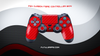 RED CARBON FIBER WRAPS/SKINS FOR PS4 CONTROLLER - Fatal Grips