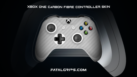 SILVER CARBON FIBER WRAPS/SKINS FOR XBOX ONE S CONTROLLER