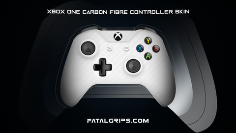 WHITE CARBON FIBER WRAPS/SKINS FOR XBOX ONE S CONTROLLER