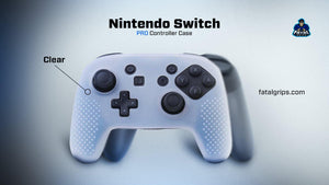 Nintendo Switch Pro Controller Case (Clear) - fatalgrips