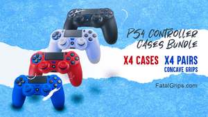 x4 PS4 CONTROLLER CASES + x8 CONCAVE GRIPS!