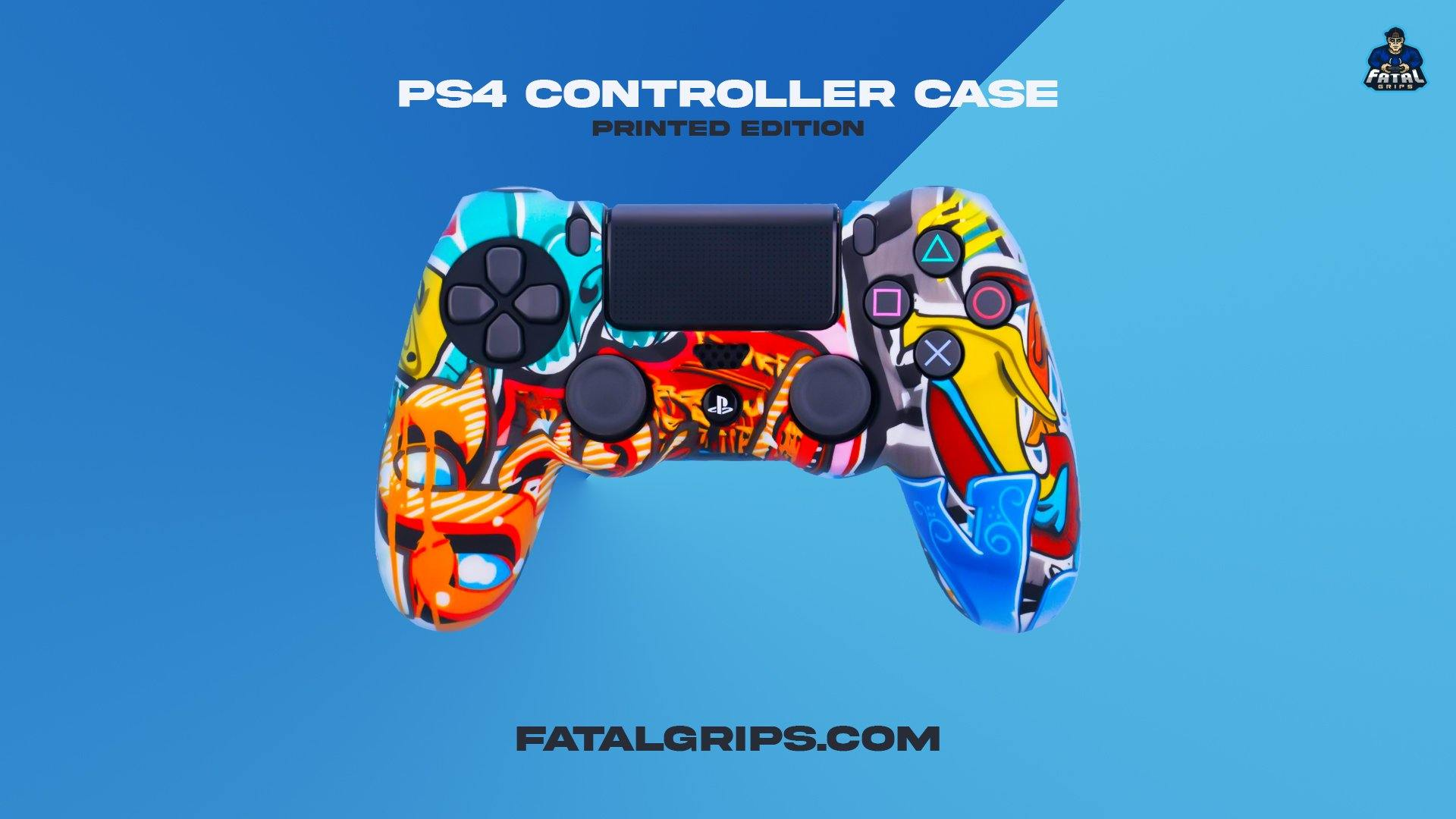 Stickerbomb PS4 Controller Case - Fatal Grips