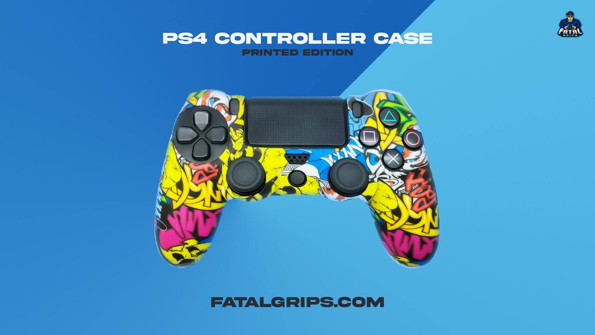 Colourful Graffiti PS4 Controller Case - Fatal Grips