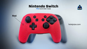 Nintendo Switch Pro Controller Case (Red) - fatalgrips