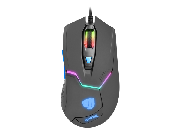Fury Gaming Mouse Hunter 4800DPI Optical With Software - fatalgrips