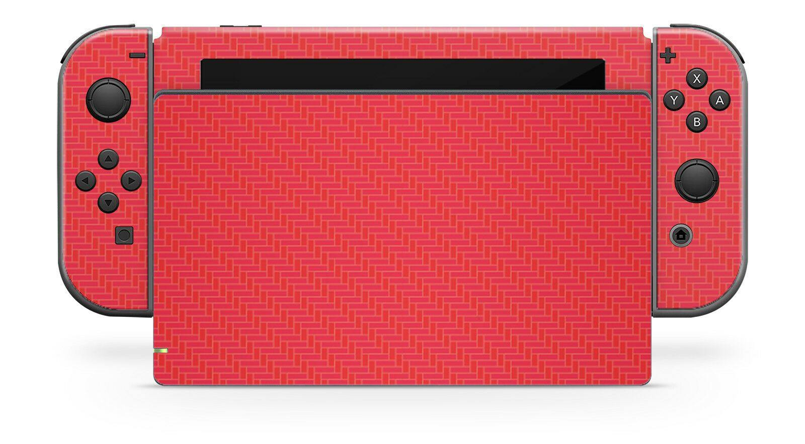 Nintendo SWITCH 3D Textured CARBON Fibre Skin - RED - Fatal Grips