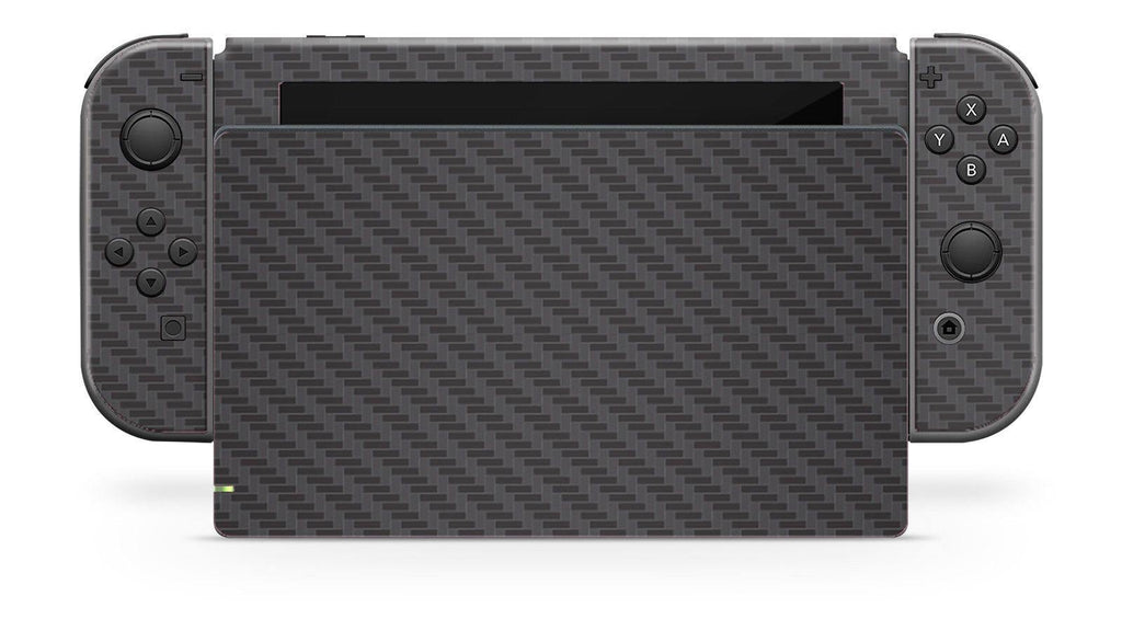 Nintendo SWITCH 3D Textured CARBON Fibre Skin - BLACK - fatalgrips