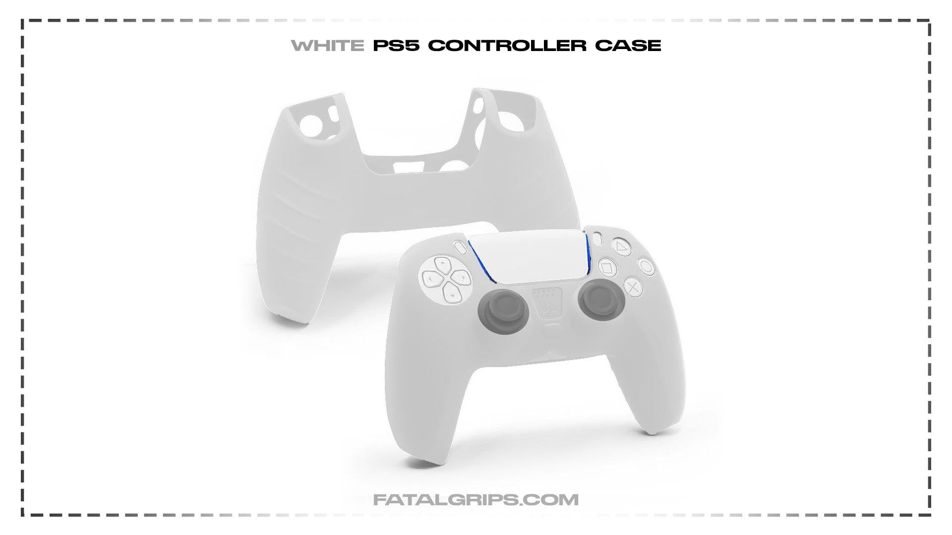 White PS5 Controller Case - Fatal Grips