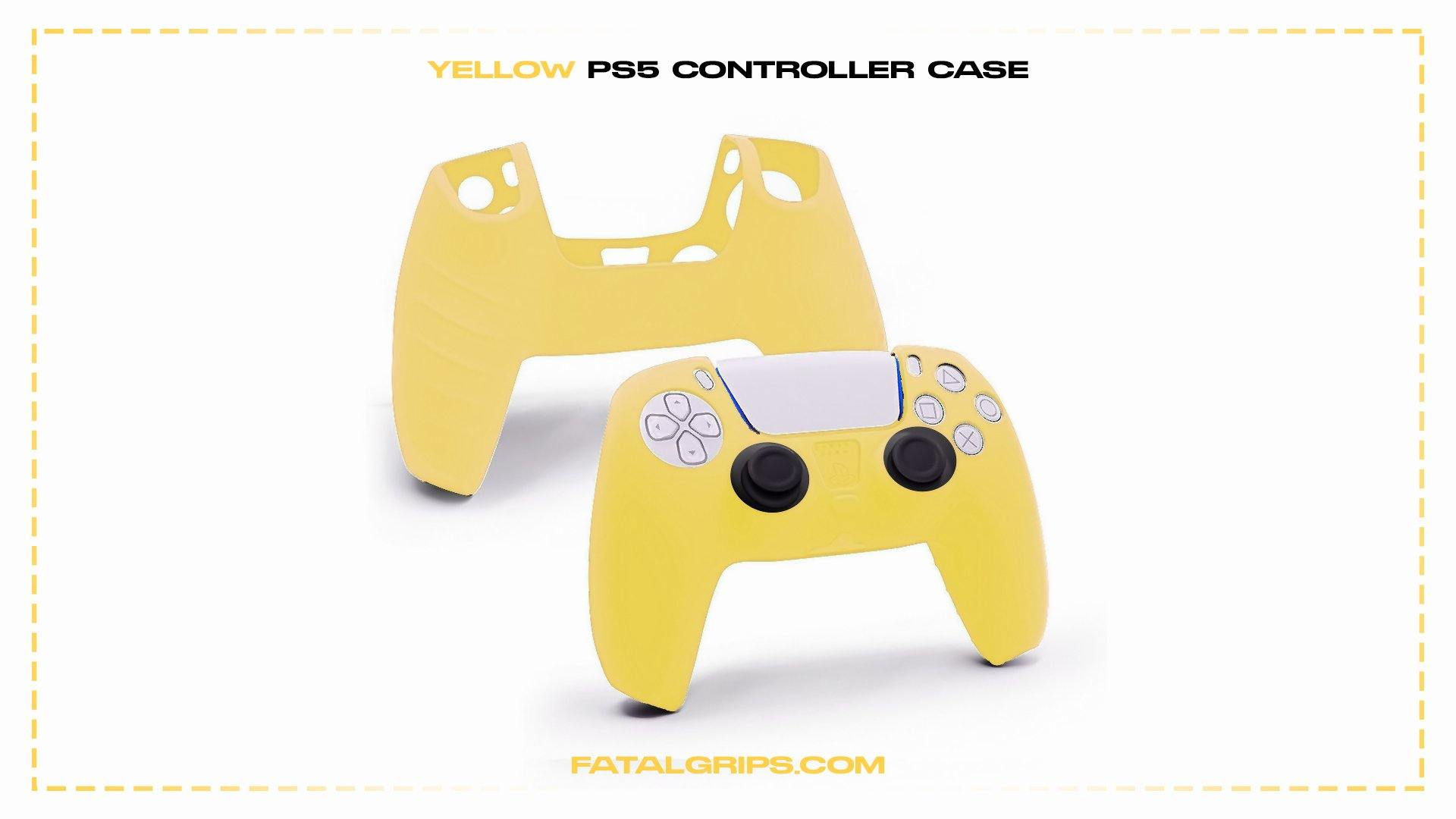Yellow PS5 Controller Case - Fatal Grips