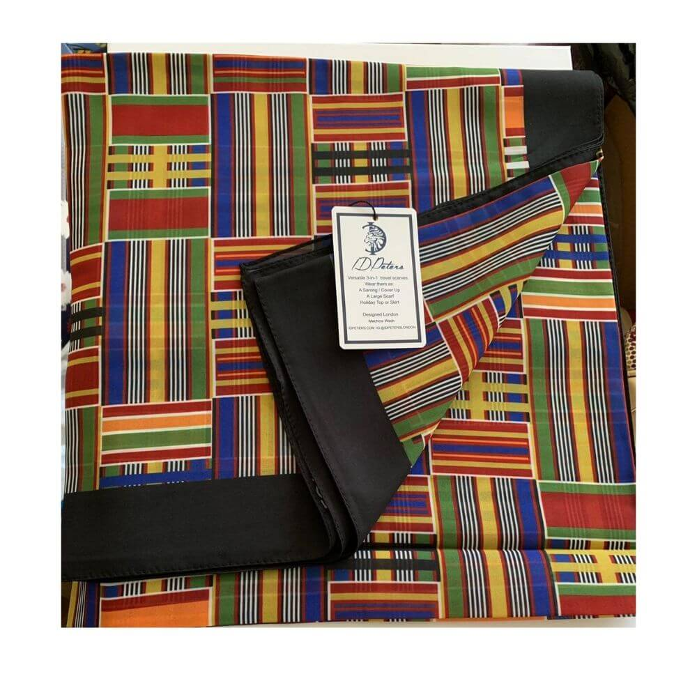 Large Scarf  - Kente Design