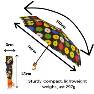 windproof umbrella black with colours