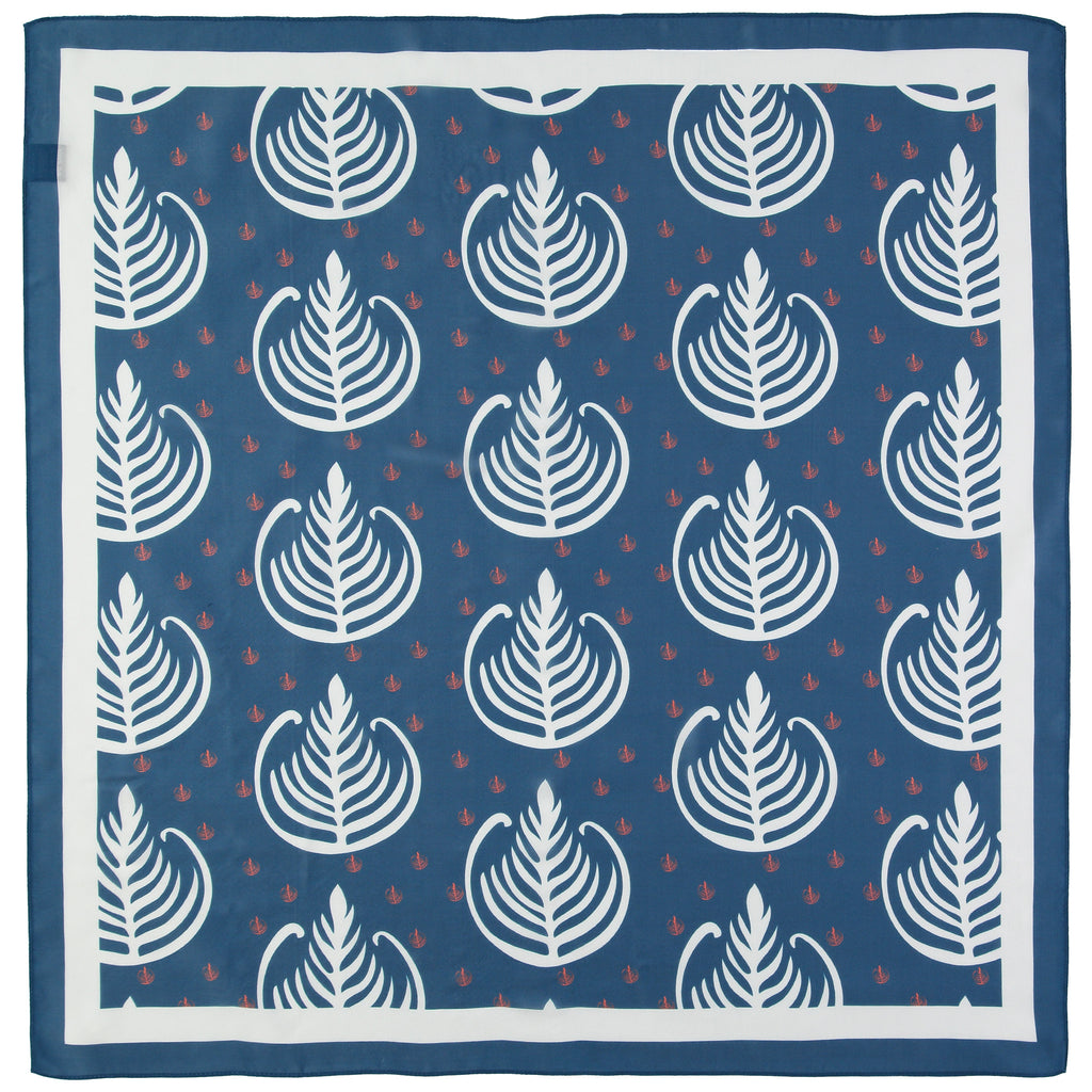 silk scarf square blue beautiful