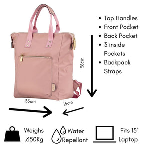 Ladies Backpack Pink Candy