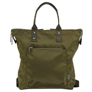 olive green nylon ladies backpack