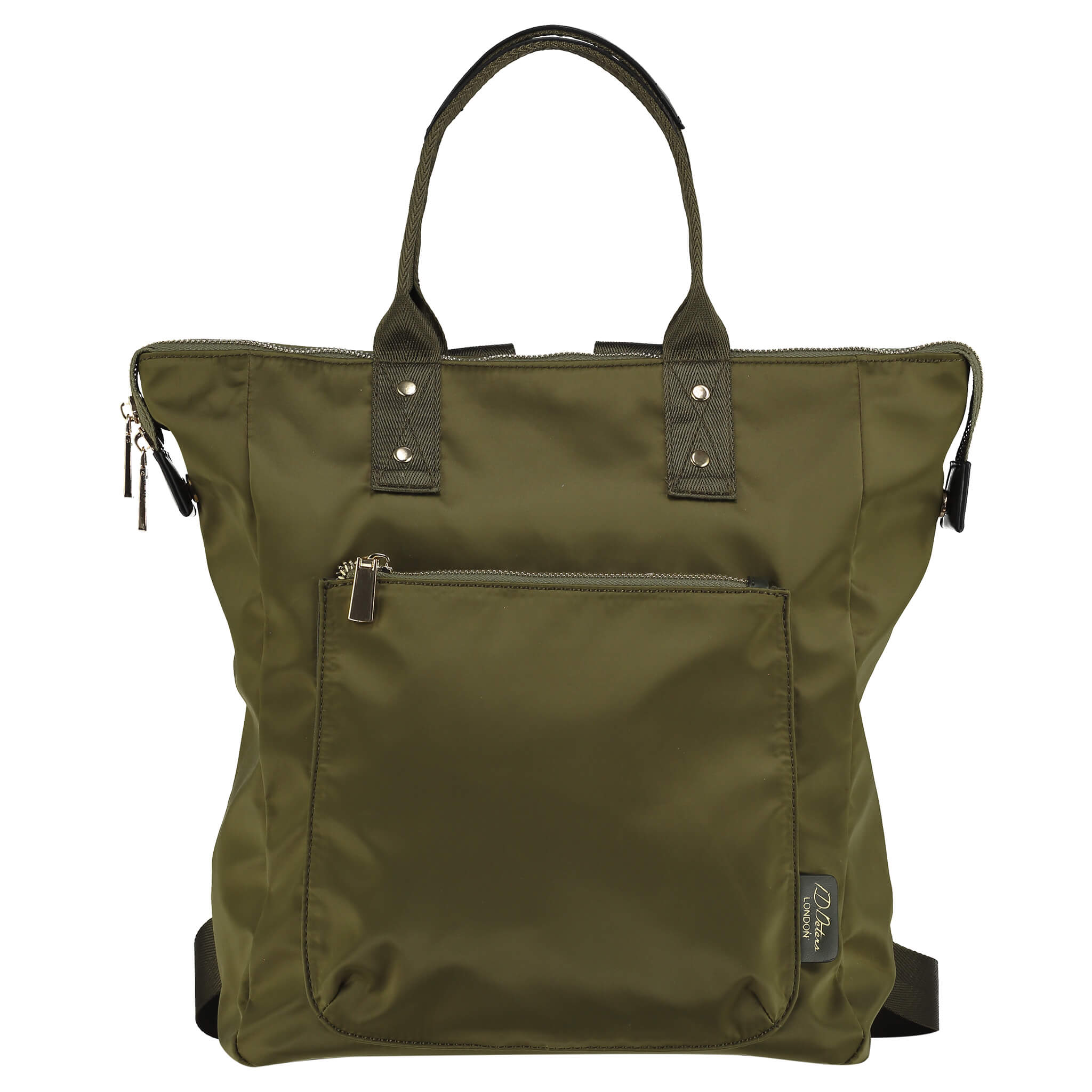 ladies backpack  olive green id peters london