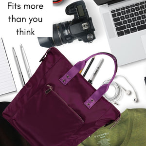 Ladies Backpack, Umbrella, Card holder Combo Set - Plum