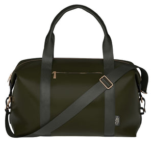 olive green weekender bag hand luggage