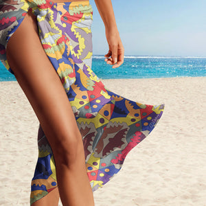 Sarong wrap beach cover up