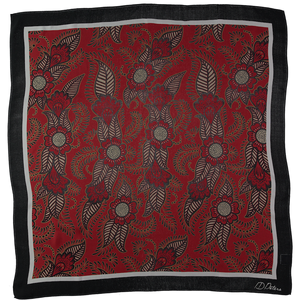 ID PETERS LONDON HENNA RED Chiffon silk scarf