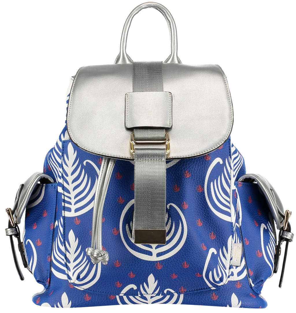 backpacks for women blue pattern