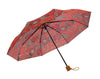 Windproof Umbrella in Red Henna Ladies Folding Umbrella