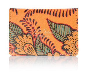 oyster cardholder orange autunm