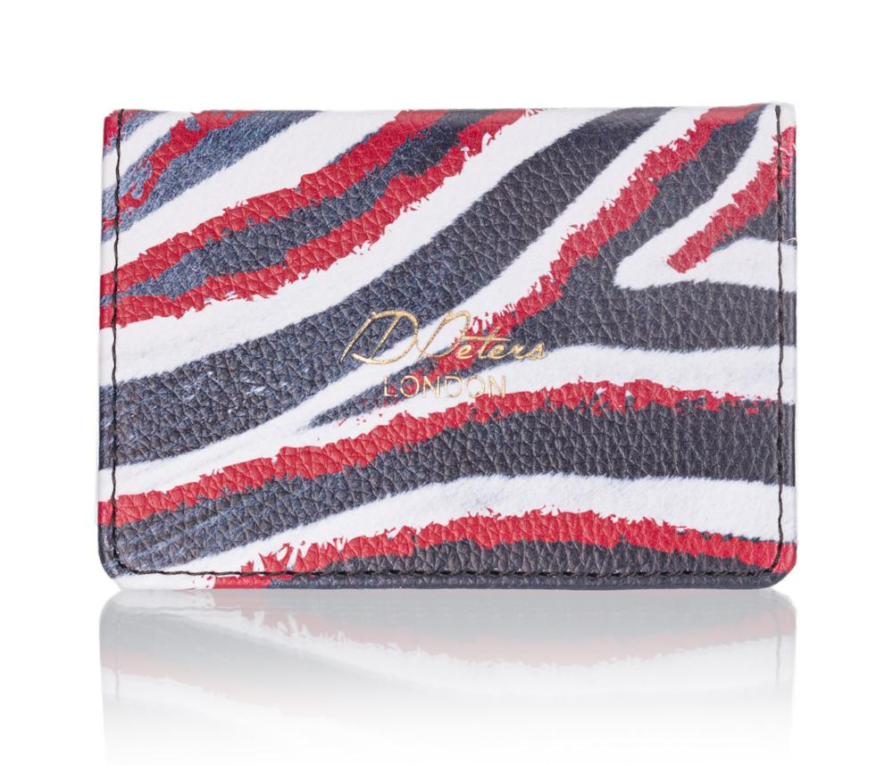 Oyster card wallet zebra safari print