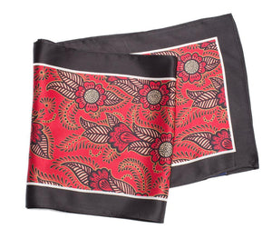 long silk scarf red henna
