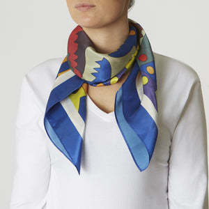 luxurious silk scarf for ladies square