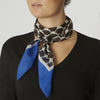silk scarf blue for ladies