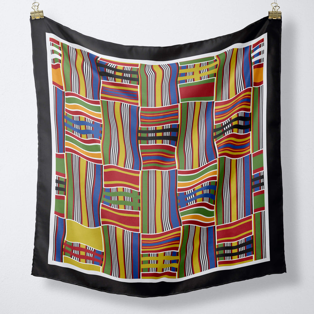 Kente silk scarf for women
