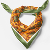 orange square silk scarf fro women
