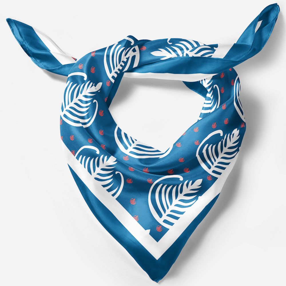 blue gift got travellers pure silk scarf in gift box