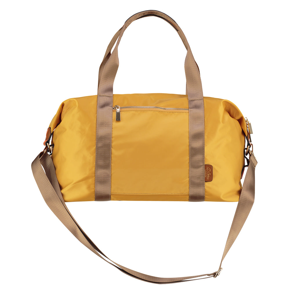 yellow weekend bag