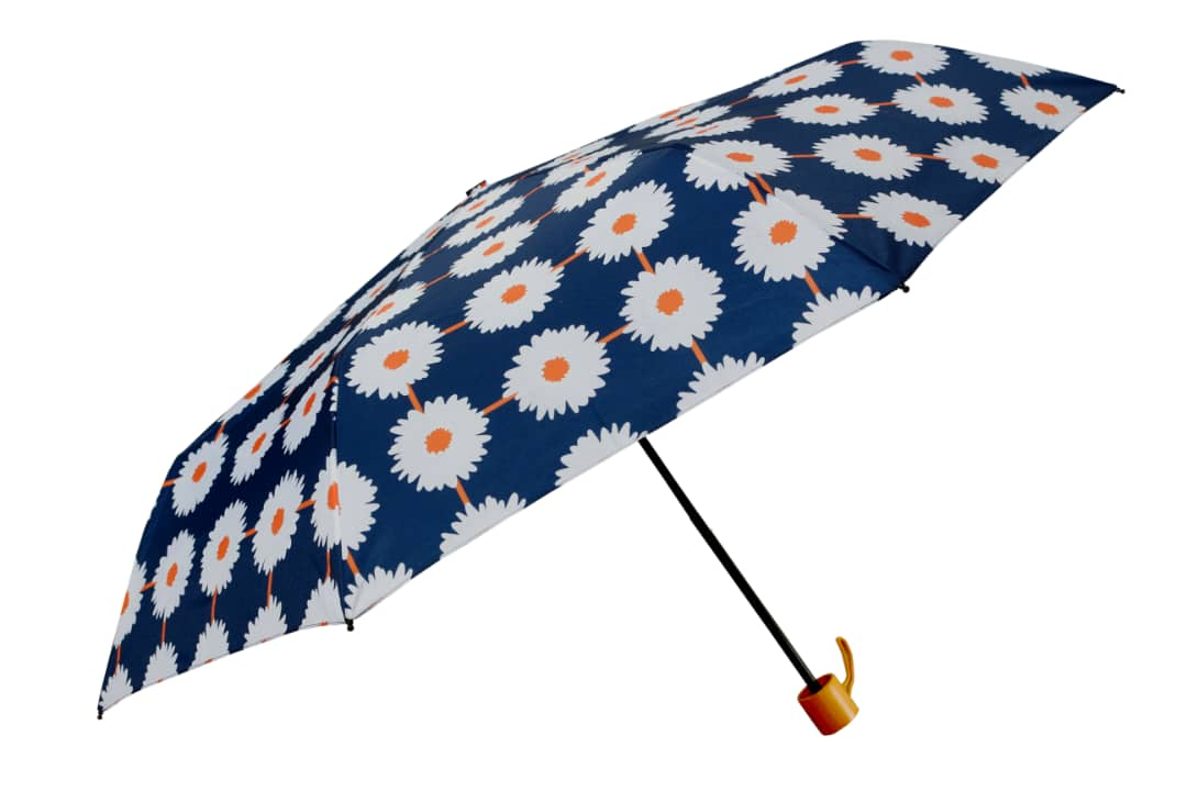 umbrella windproof flowers orange and blue