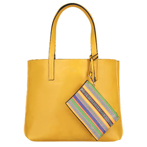 yellow summer tote bag kente mudcloth