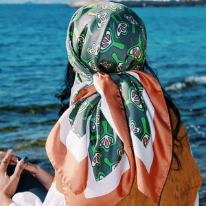 silk scarf for ladies Italy