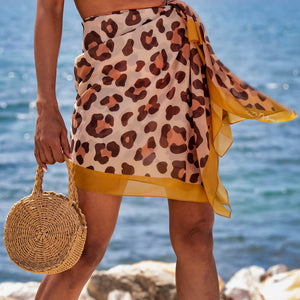 leopard beach cover up sarong