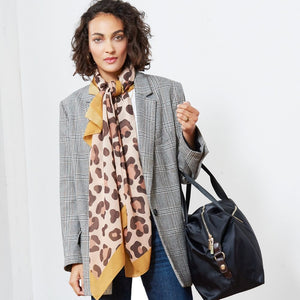 Large  Scarf - Leopard Design