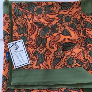 summer cover ups sarong orange and green