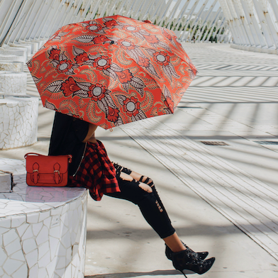 ladies brolly red