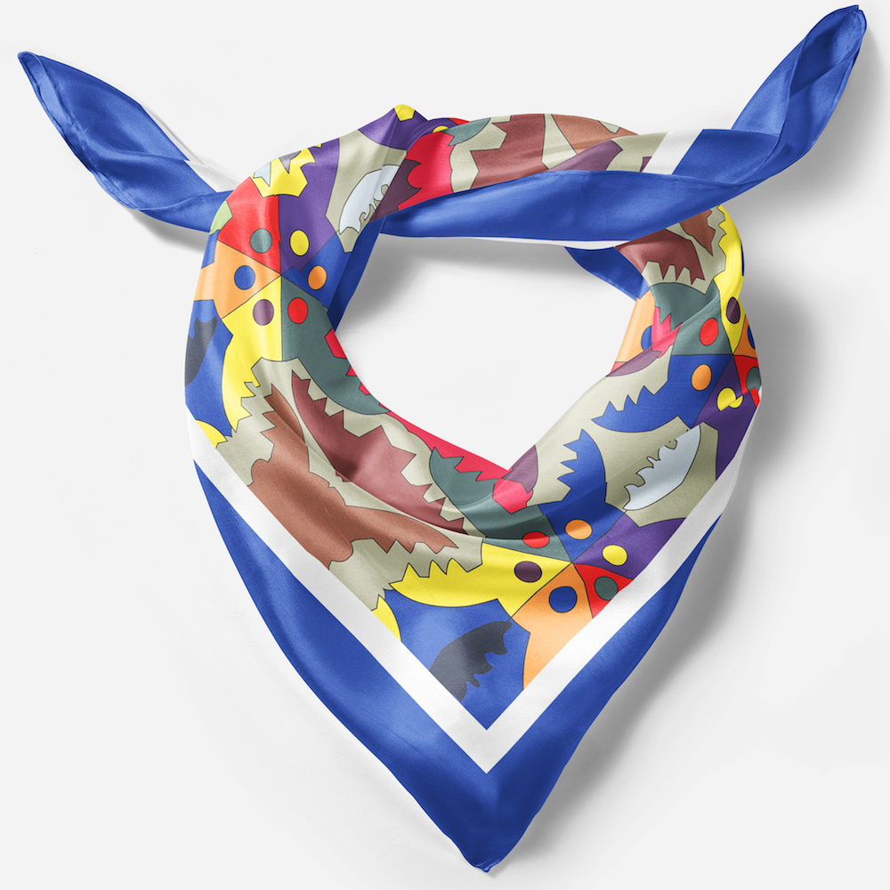 blue silk scarf london gifts for ladies