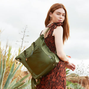Travel backpack olive green