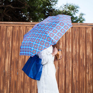 Windproof Umbrella in Blue Coco  Folding Umbrella
