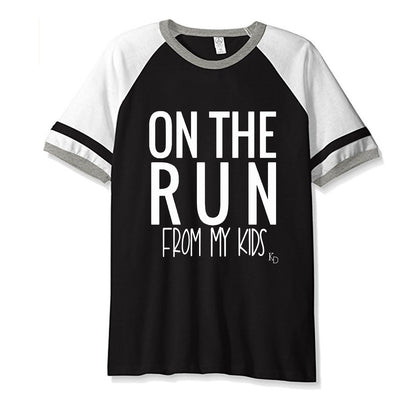 Adult-ON THE RUN Vintage Jersey T-Shirt