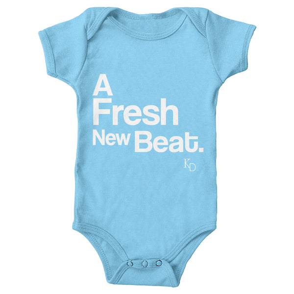 Baby-A Fresh New Beat Baby Blue Onesie