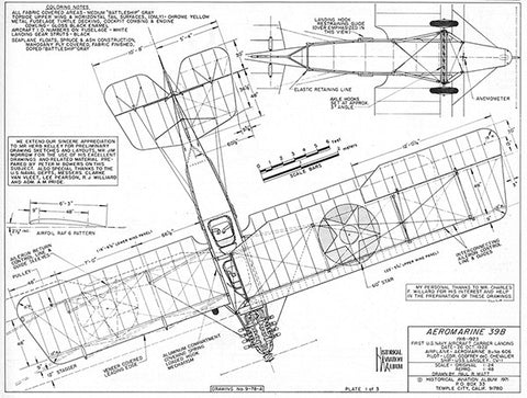 Drawing - Paul Matt - Aeromarine-39B
