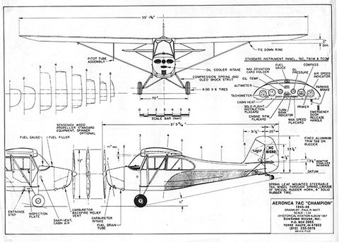 Drawing - Paul Matt - Aeronca 7AC Champion
