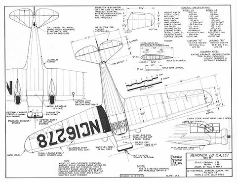 Drawing - Paul Matt - Aeronca LB