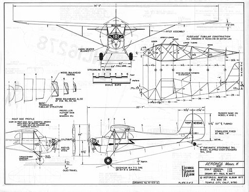 Drawing - Paul Matt - Aeronca Model K